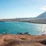 Blick über die Bucht im Norden von Antofagasta...