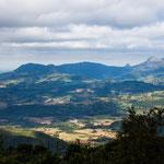 Anfahrt in die Berge - hier bis zu 1.000 m hoch...