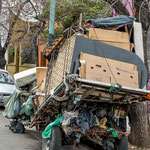 ...aber auch Armut - hier ein Müllsammler...