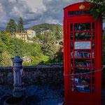 ...nachdem heute niemand mehr ein Telefonhäuschen braucht - ist es jetzt ein Büchertausch...
