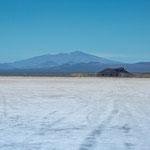 "...Blick auf den Salzsee ""Llancanelo""..."
