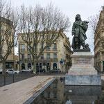 """...der berühmteste Sohn der Stadt: Paul-Riquet - der Planer und Erbauer des """"Kanal-du-Midi""""..."""