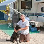 Steve und sein Hund Onyx