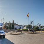 Unser Übernachtungsplatz im wunderschönen Almagro...