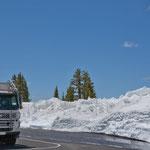 Schneeberge Ende Juli - dies gibt es normalerweise nicht hier