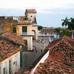 Blick über die Dächer vom Convent San Francisco de Asis ....
