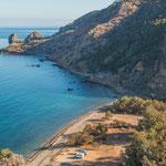 Die wilden Rif Berge reichen bis ans Mittelmeer...