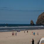 """""""Oregon Riviera"""" bei Cannon Beach - aber niemand im Wasser"""