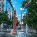 ...die Avenida Corrientes mit Blick auf den Obelisk...