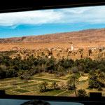 ...Blick aus unserem Wohnzimmer ins Tal der Todra...
