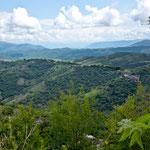 Blick von unserem Stellplatz an Silberschnuck Fabrik in Taxco