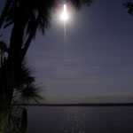 "Mondaufgang über der ""Laguna Bacalar"""