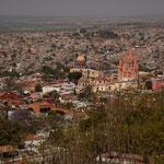 San Miguel de Allende von oben mit der Kathedrale