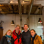 Mit Tina und Andi in einer tollen Kaffeerösterei in Brooklyn...
