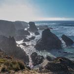 Auch Porto Covo bietet und schöne, bizarre Küste...