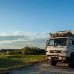 ...mit Martina und Lothar fanden wir einen tollen Stellplatz in Ubatube...