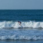 ...mit Ausblick auf die Surfer...