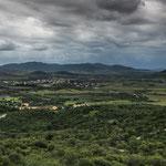 Blick ins fruchtbare Tal von Montessu - dies war schon vor 5000 Jahren ein Grund hier zu siedeln