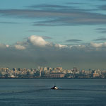 Die skyline von Buenos Aires ist ganz viele Kilometer entfernt...