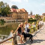 Mit unseren Freunden Birgit und Peter in Bamberg...