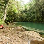 """....auch dem Weg zur Quelle des """"Rio Columbia"""" mit seiner tollen Farbe....."""