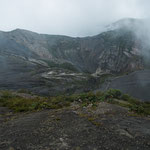 ....hier noch Mal einen Blick in aktiven Vulkantrichter
