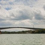 die Brücke über den Rio Dulce....