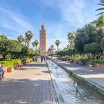 ...Marrakech bietet erstaunlich viel Gartenanlagen...