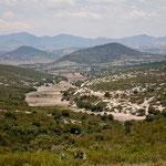 Die Landschaft auf dem Weg nach Santiago Apoala ist grandios
