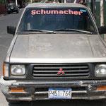 .....und dann fanden wir noch Schumacher als Testfahrer von Mitsubishi