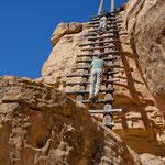 nur über solche Leitern ging es zu den Pueblos