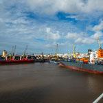 Der Hafen von Montevideo...