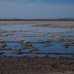 Extrem flache Küstenebene und viel Sonne sind Voraussetzung für Salzgewinnung