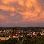 Ein traumhafter Sonnenuntergang in Amberg....
