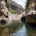 ....das Wasser ist warm - und noch ungefährlich.....