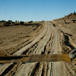 Hwy 57 zum Chaco Canyon - nur bei Trockenheit befahrbar