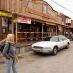 Die Geister Stadt Oatman wurde für den Tourismus wieder belebt