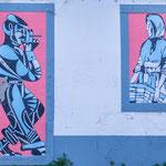 ...auch in Peniche gibt es ein wenig Wandmalerei
