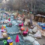 """...auch diese """"Cafes im Fluss"""" sind eine Besonderheit hier..."""
