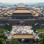 """....Blick vom """"Konfutiustempel"""" auf die verbotene Stadt...."""