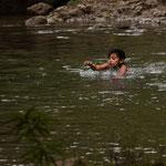....aber schwimmen tun ausschließlich die Kinder....