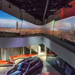 Eine Multimedia-Show von Seat führt den Besucher nach Barcelona