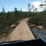 """....wir mussten viele """"creeks"""" überqueren...."""