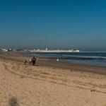 El Jadida ist berühmt für seinen riesigen Strand...