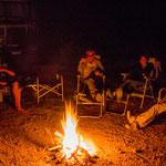 ...und unser Übernachtungsplatz im Canyon mit dem obligatorischen Lagerfeuer...