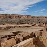 """Pueblo Bonito"" mit seinen Ruinen"