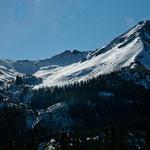 im Oktober viel Schnee - früher gab es hier mächtige Gletscher - die sind alle geschmolzen