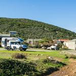 Unser traumhafter Stellplatz am Cap Corse