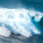 ...bis die Welle sie überrollt...