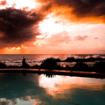 .....mit diesem tollen Sonnenuntergang belohnt.